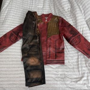 Starlord Kids Faux Leather Jacket & Pants Costume